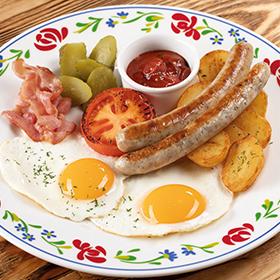 Завтрак Сытный с пикантным соусом